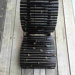 Sammenklappelig stol i bambus