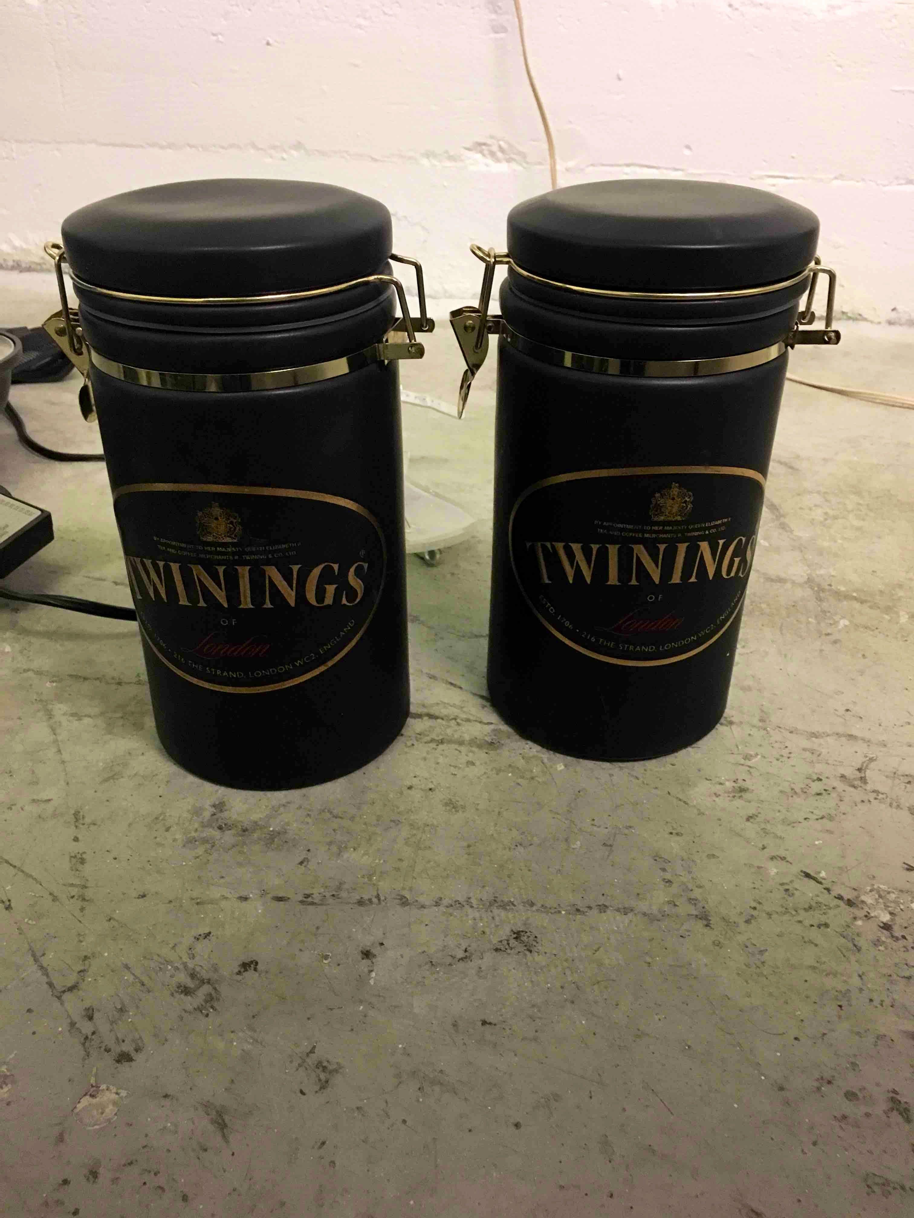 Twinings of London jars