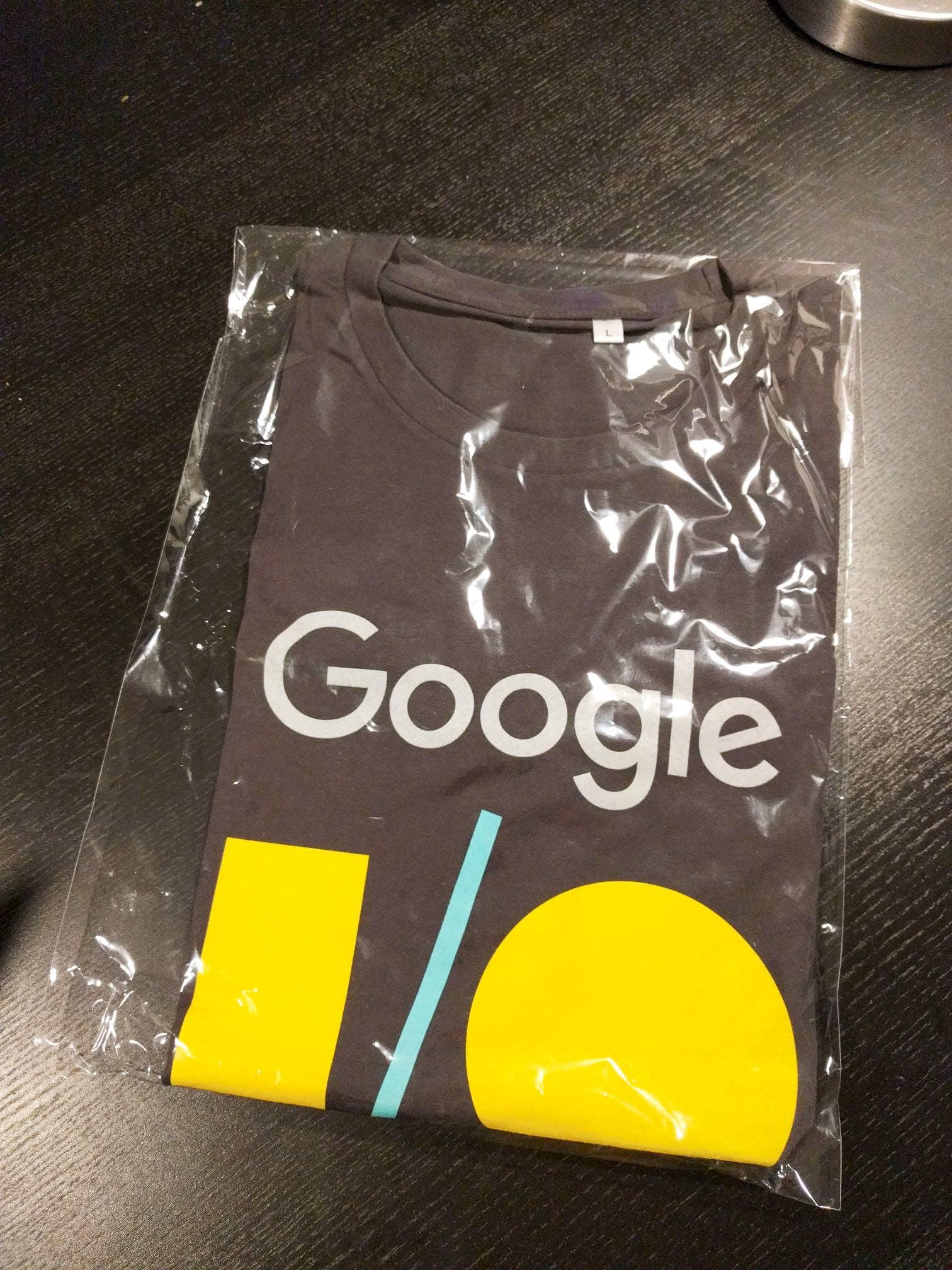 Google I/O 2017 t-shirt 👕