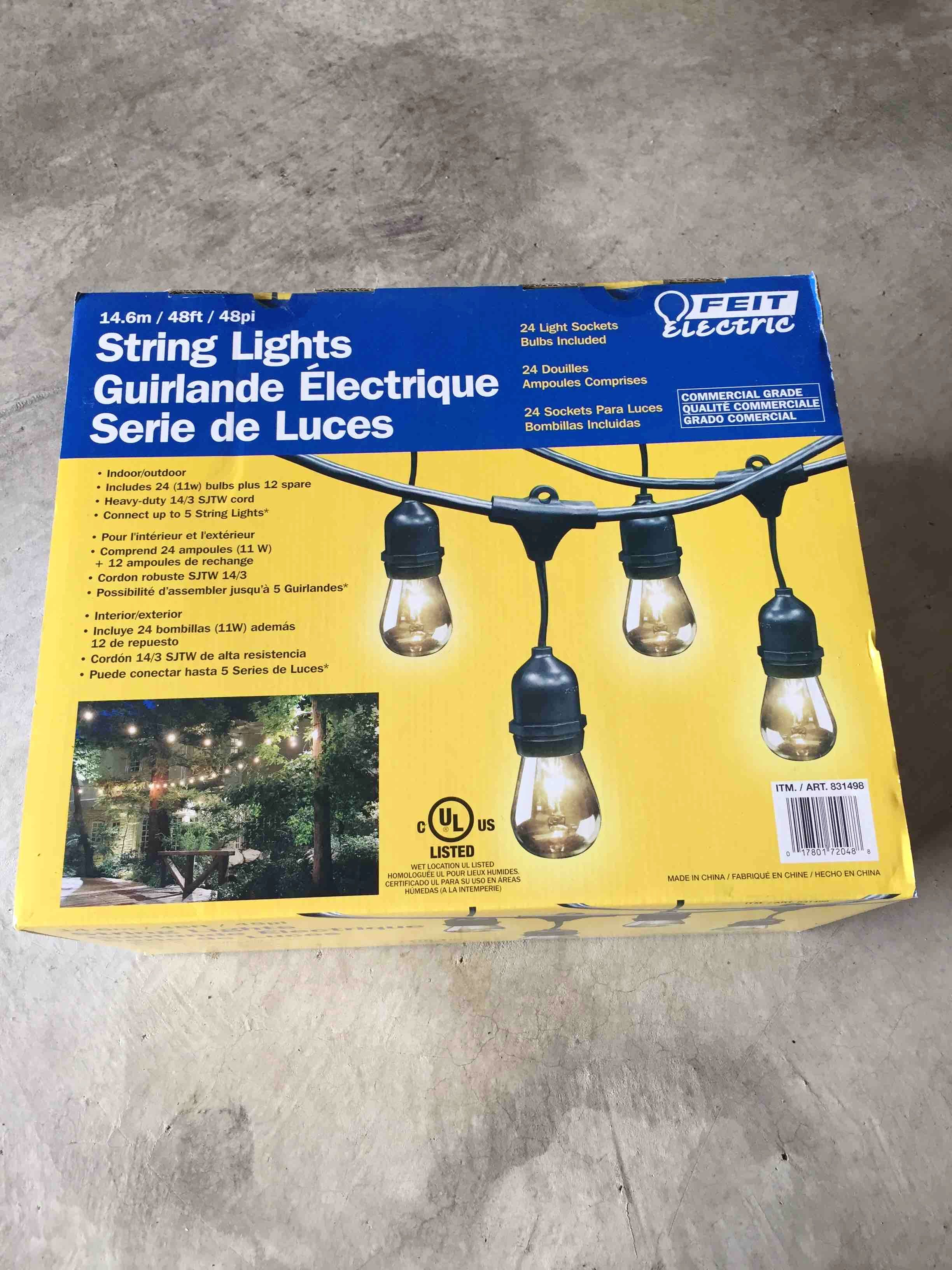 String lights--unopened new