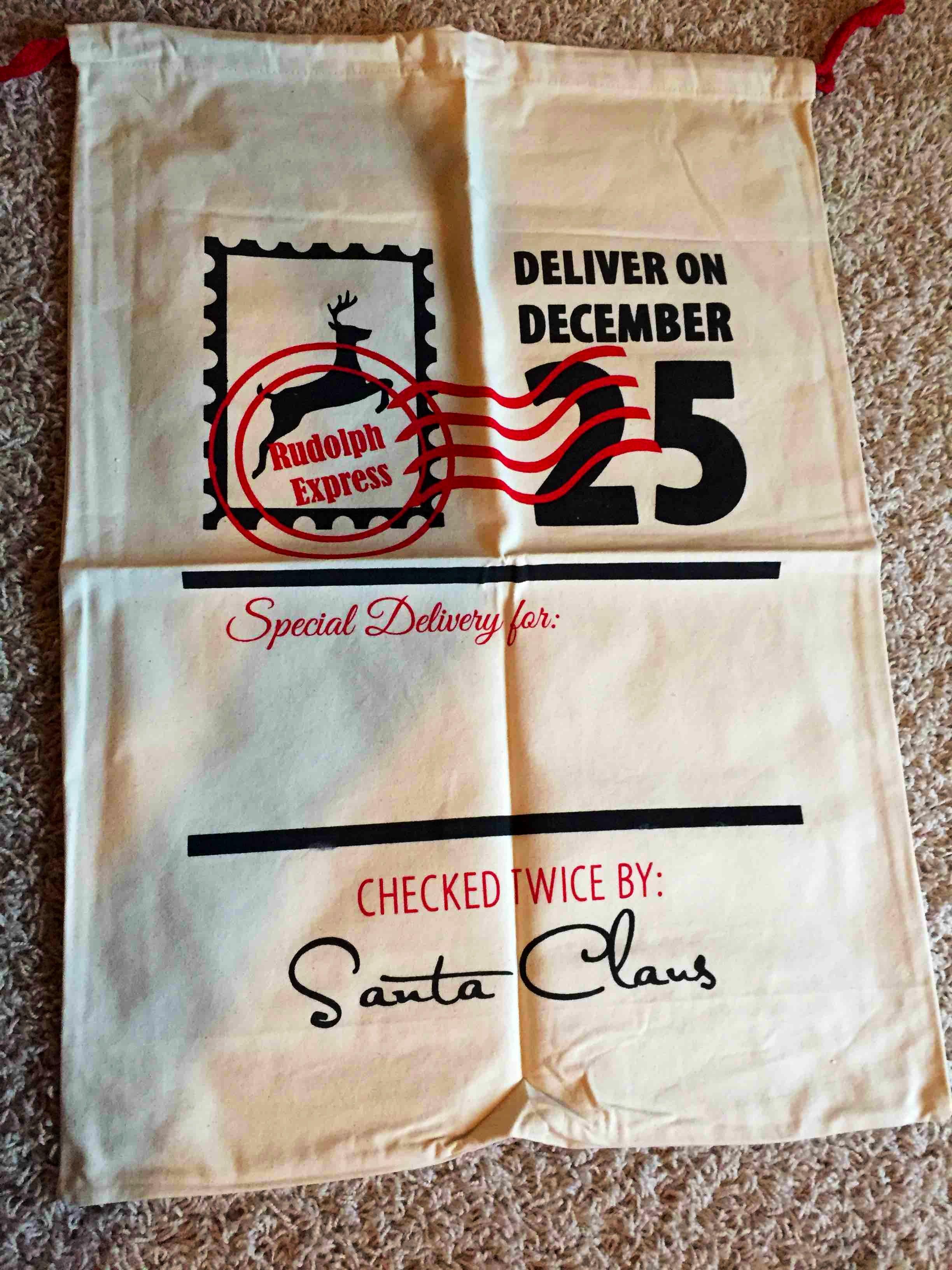 Santa bag. Special delivery