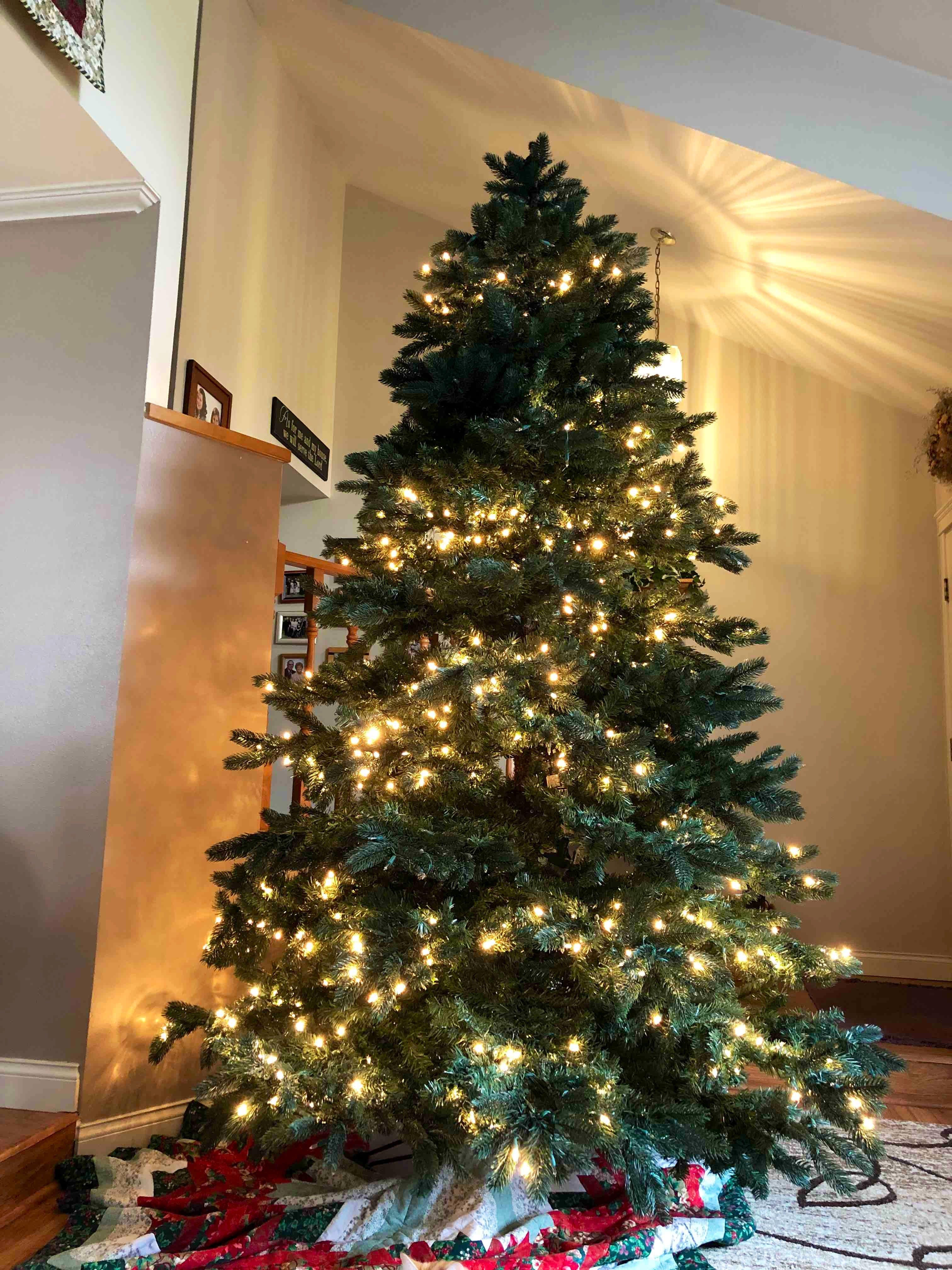 9' Christmas tree with lights