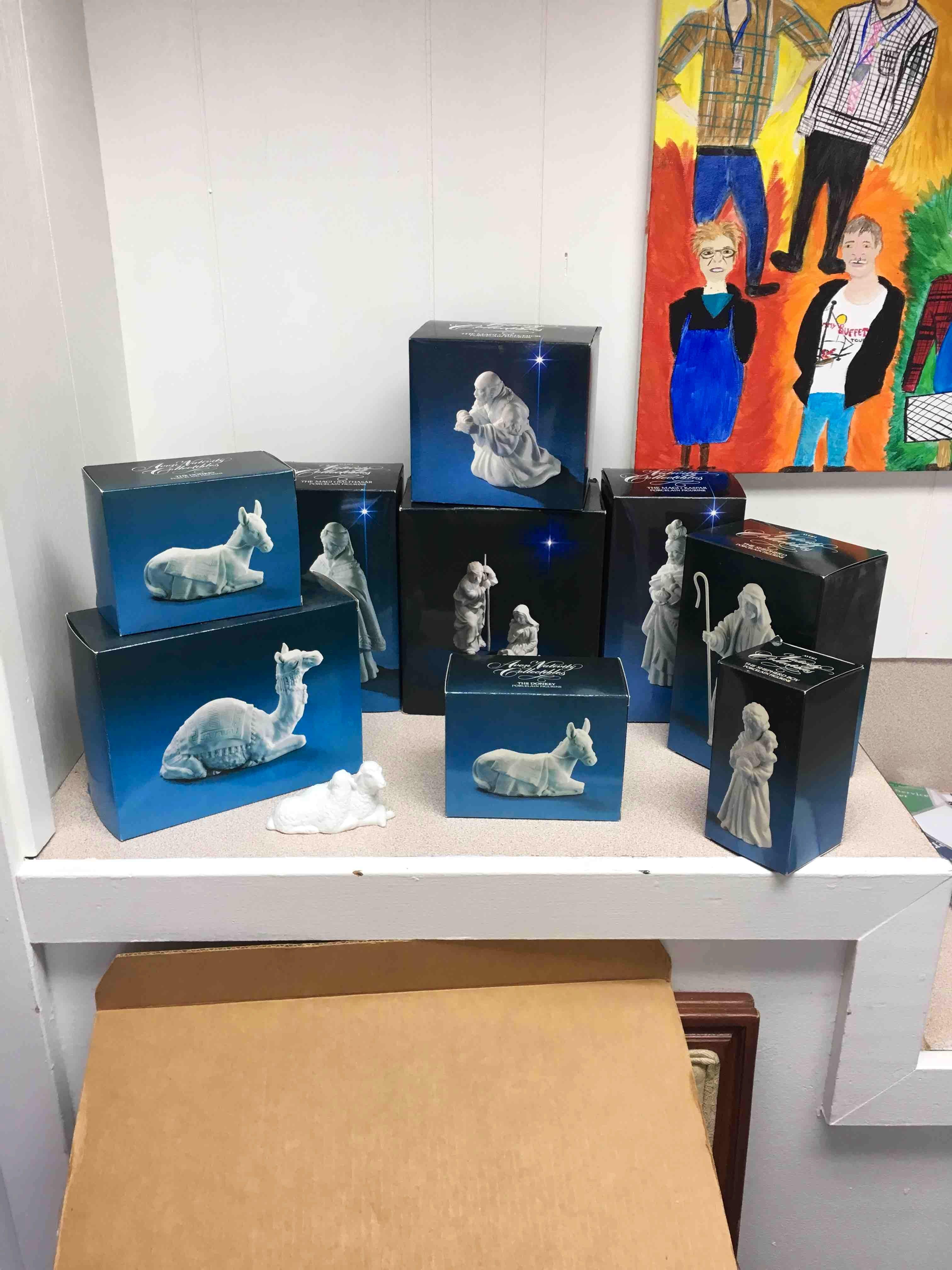 Avon porcelain nativity set