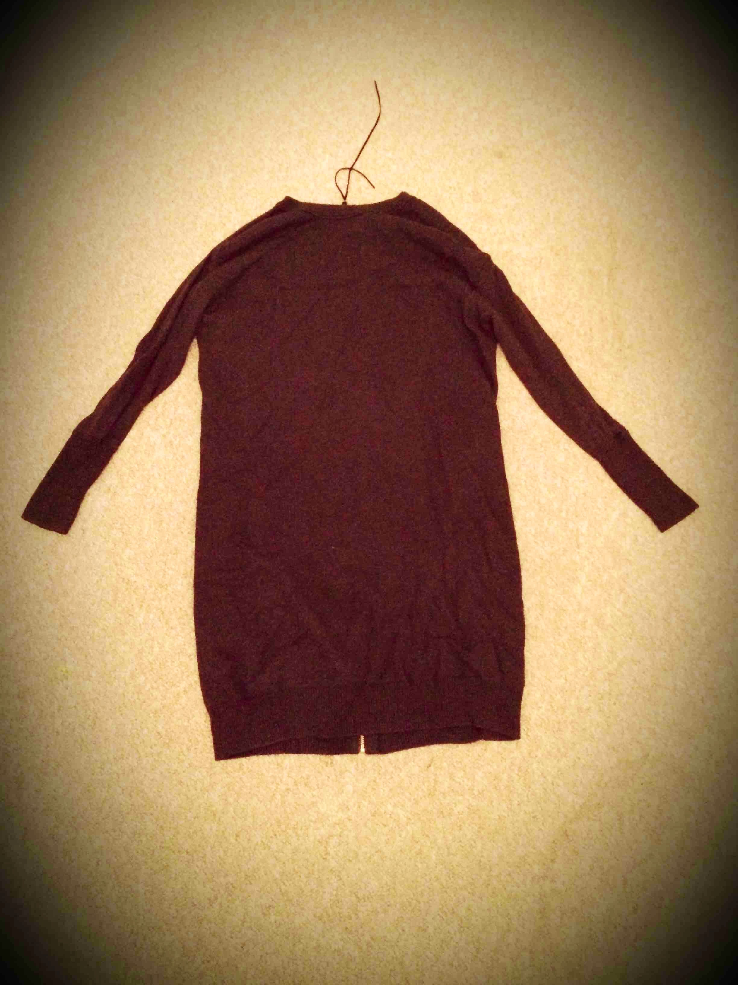 Inwear mørkegrå kjole skøn strik str S